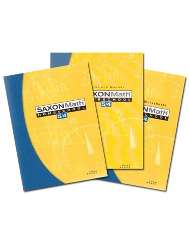 Saxon 54 Home Study Kit (3rd ed)