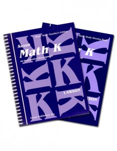 Saxon Math K Home Study Kit