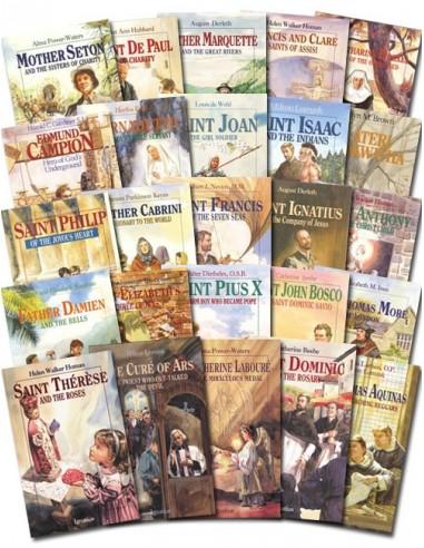 Complete Set Vision Books (Saint Biographies - 24 Books)