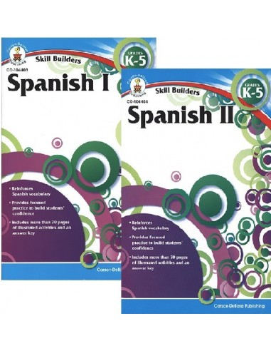 Skill Builders Spanish 1&2 Set (Grades K-5)