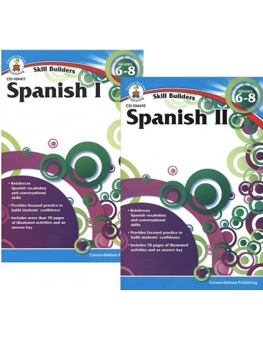 Skill Builders Spanish 1&2 Set (Grades 6-8)
