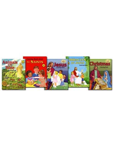 Pre-K Coloring 5 Book Set