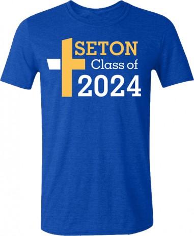 Seton Class of 2024 T-Shirt Adult 2-XL
