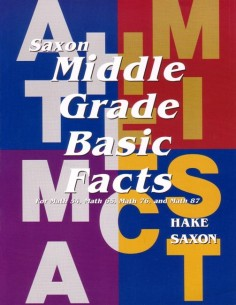 Saxon Basic Math Facts