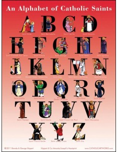 An Alphabet of Catholic Saints (poster)