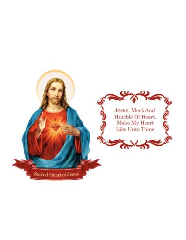 Devout Decals Sacred Heart Set
