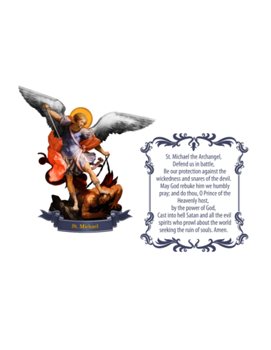 St. Michael with Prayer Wall Decal