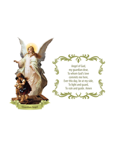 Guardian Angel with Prayer Wall Decal