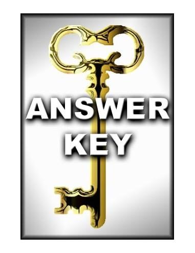 Reading/Thinking Skills Level B Answer Key