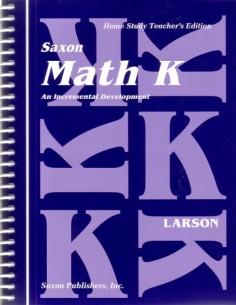 Saxon Math K Teacher's Manual