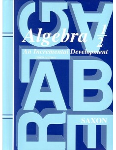 Saxon Algebra 1/2 (3rd edition) Text (Used)