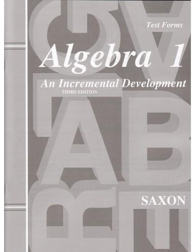 Saxon Algebra 1 (3rd edition) Tests (No Key)