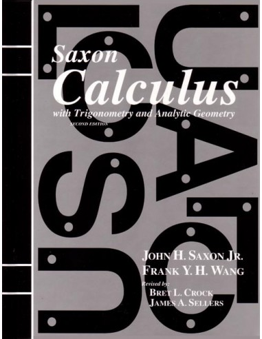 Saxon Calculus (2nd ed) Text (New)