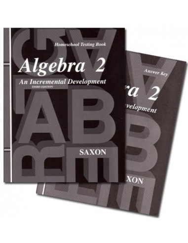 Saxon Algebra 2 (3rd Ed) Test Booklet with text key