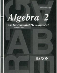 Saxon Algebra 2 (3rd Ed) Text Key