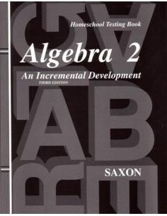 Saxon Algebra 2 (3rd Ed) Tests (with test key)