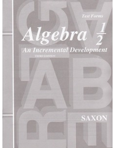 Saxon Algebra 1/2 (3rd edition) Tests (No Key)
