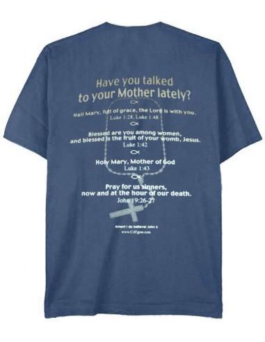 """T-Shirt """"Hail Mary"""" Metro Blue - Small"""