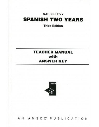 Amsco Spanish Two Years T. Manual