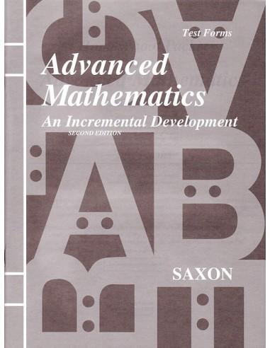 Saxon Advanced Math (2nd edition) Tests (No Key)