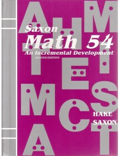 Saxon Math 54 (2nd edition) Text (Used)