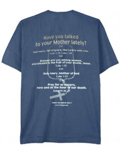 "T-Shirt ""Hail Mary"" Metro Blue - Large"