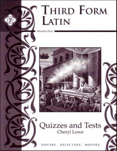 Third Form Latin Test and Quiz book