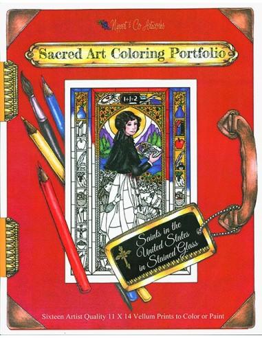 U.S. Saints Stained Glass Coloring Portfolio