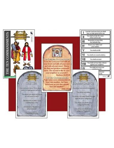 The Ten Commandment Catholic Cutouts