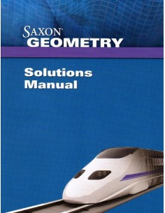Saxon Geometry Solutions Manual