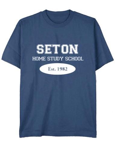 Seton T-Shirt: Est. 1982 Indigo Blue - Youth Small