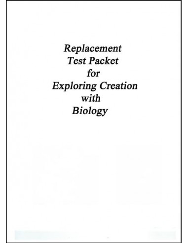 Exploring Creation with Biology Replacement Test Packet