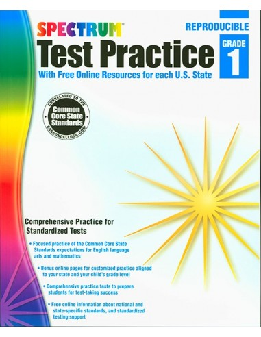 Spectrum Test Practice Repro Workbook Grade 1