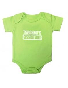 Teacher's Assistant Snap-Tee Green - 6 mo.