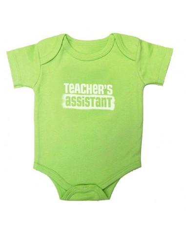 Teacher's Assistant Snap-Tee Green - 12 mo.
