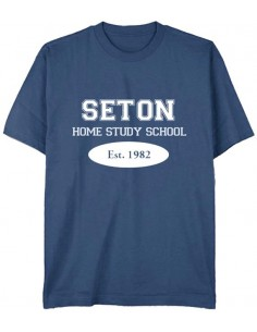 Seton T-Shirt: Est. 1982 Indigo Blue - Adult Small