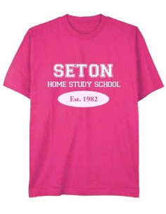 Seton T-Shirt: Est. 1982 Pink - Adult Small