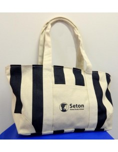 Large Striped S.H.S.S. Canvas Tote