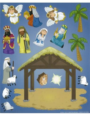 Make your own Nativity Sticker Sheet