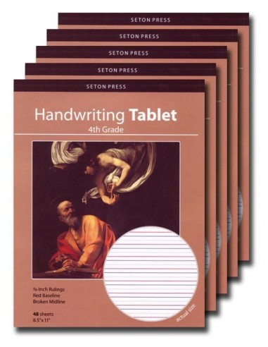 Grade 4 Handwriting Tablet - 5 pack