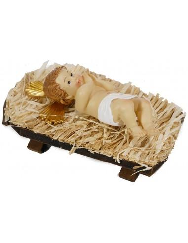 Infant Jesus in Manger - 9 inch Figurine