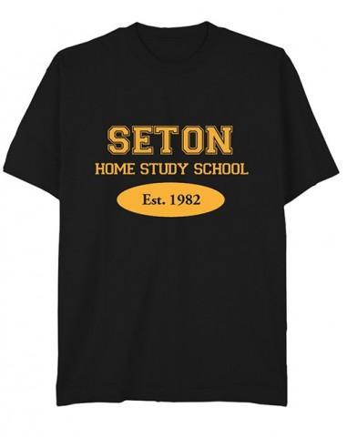 Seton T-Shirt: Est. 1982 Black - Adult Large