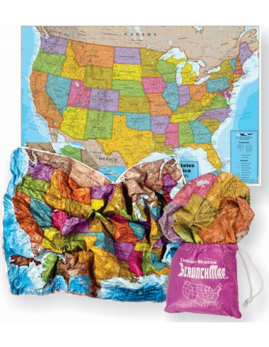 ScrunchMap of the United States