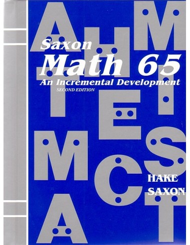 Saxon Math 65 (2nd edition) Text (Used)