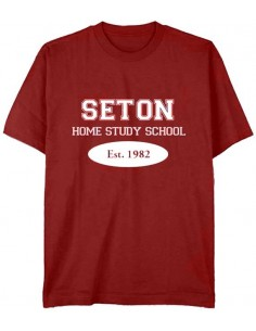 Seton T-Shirt: Est. 1982 Cardinal Red -Youth Large