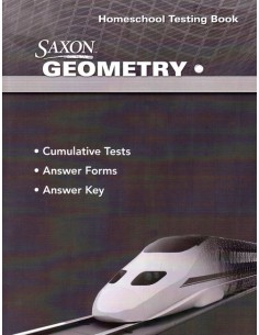 Saxon Geometry Homeschool Packet (Test Book and Key)