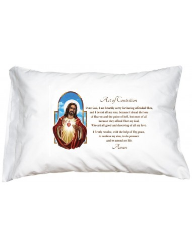 Sacred Heart Pillowcase: Act of Contrition