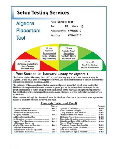Algebra Placement Test