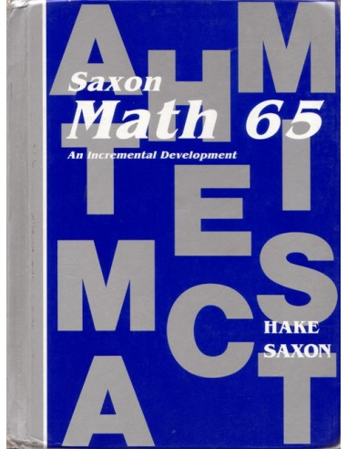 Saxon Math 65 (1st ed) Text (Used)