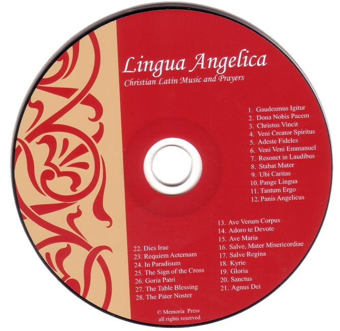 Lingua Angelica I Music CD